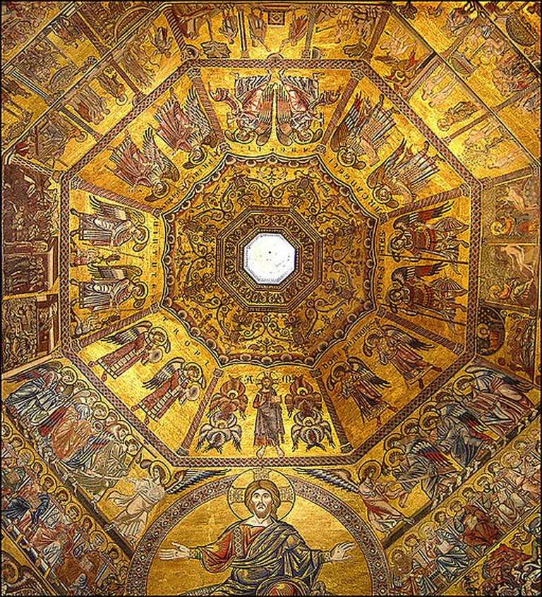 Interior of the Florence Baptistery Dome © Ricardo André Frantz/Wikimedia Commons
