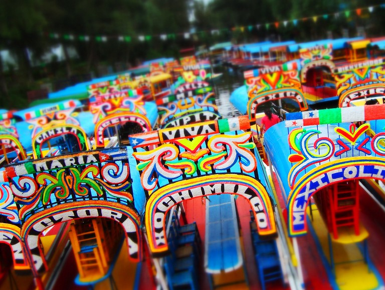 Xochimilco's trajineras © Alejandro/Flickr