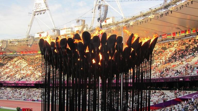 The Cauldron during the Olympics © David Jones/Flickr