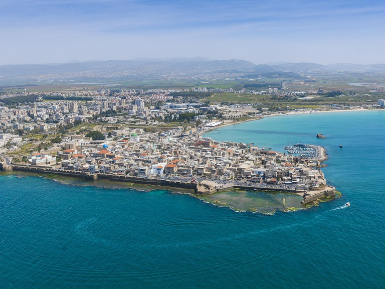 Aerial View of Akko and Harbor  © Itamar Grinberg.