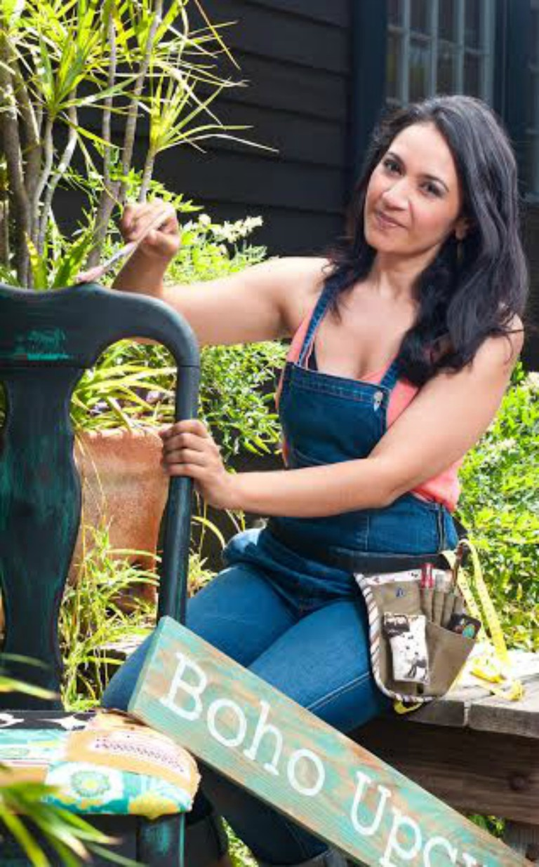 Owner Krissy Arora, Boho Upcycle. Photo by Killer Cucpcake Event Photography.