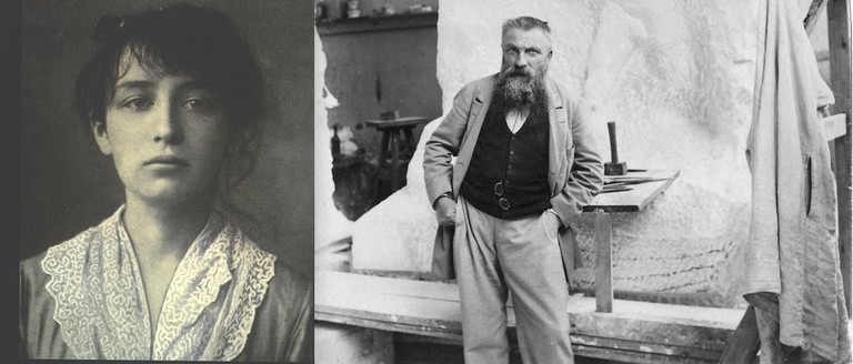 Camille (left) and Rodin (right)   © Unknown/WikiCommons (left) © Paul François Arnold Cardon (a) Dornac/WikiCommons (right)