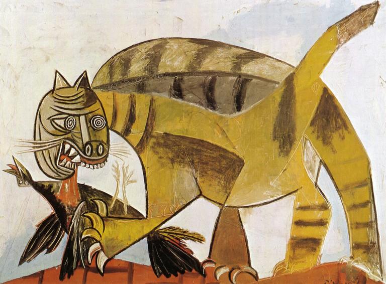 Cat Devouring A Bird, Pablo Picasso