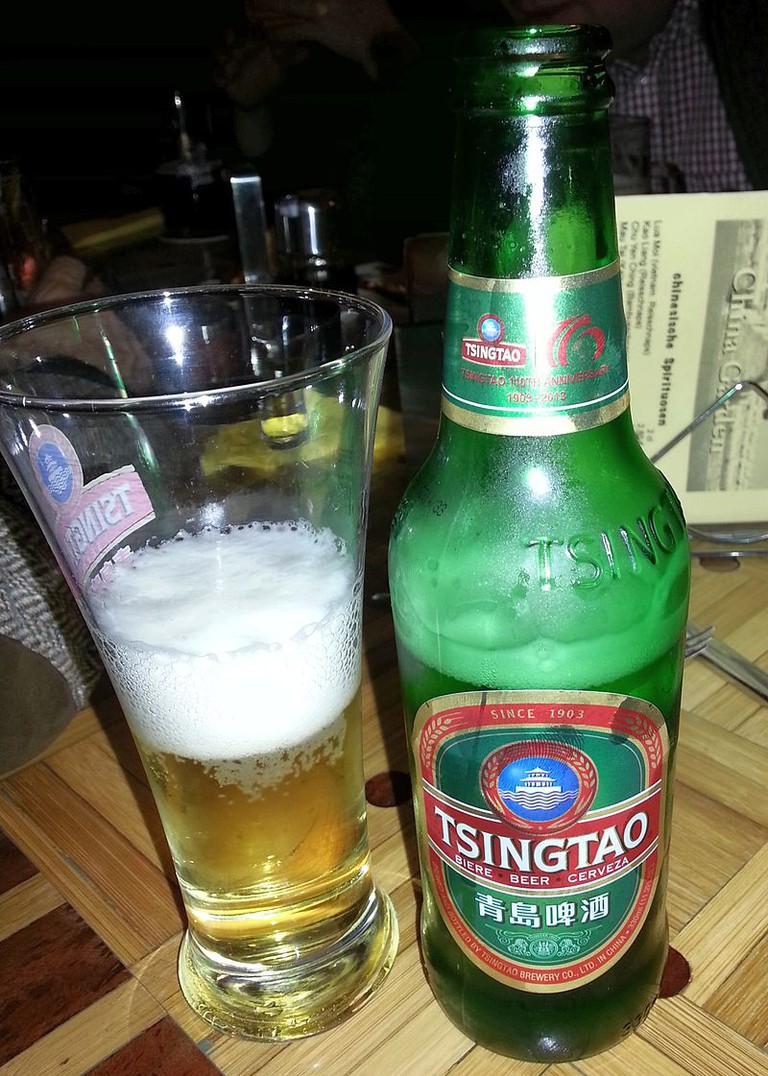 Chinese Tsingtao beer © Derbrauni, wikicommons