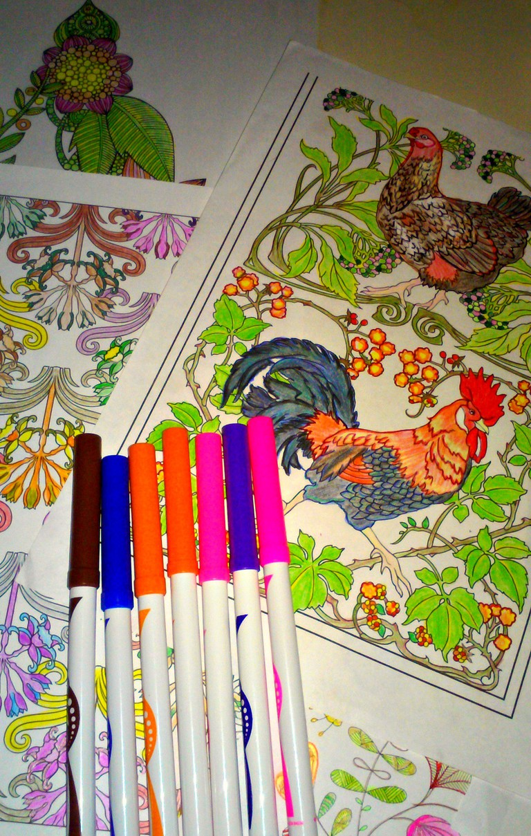 Coloring Pages  © Marie Cradle