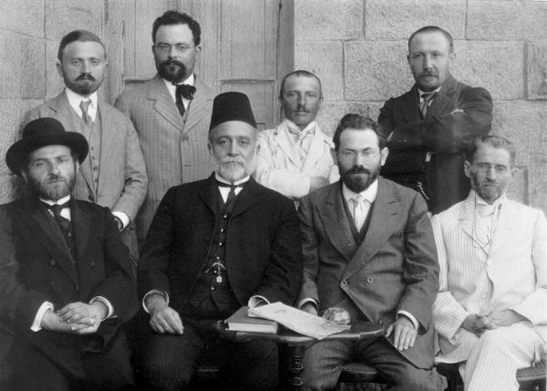 First Committee of the Hebrew Language,Jerusalem 1912| The David B. Keidan Collection of Digital Images from the Central Zionist Archives (via Harvard University Library)