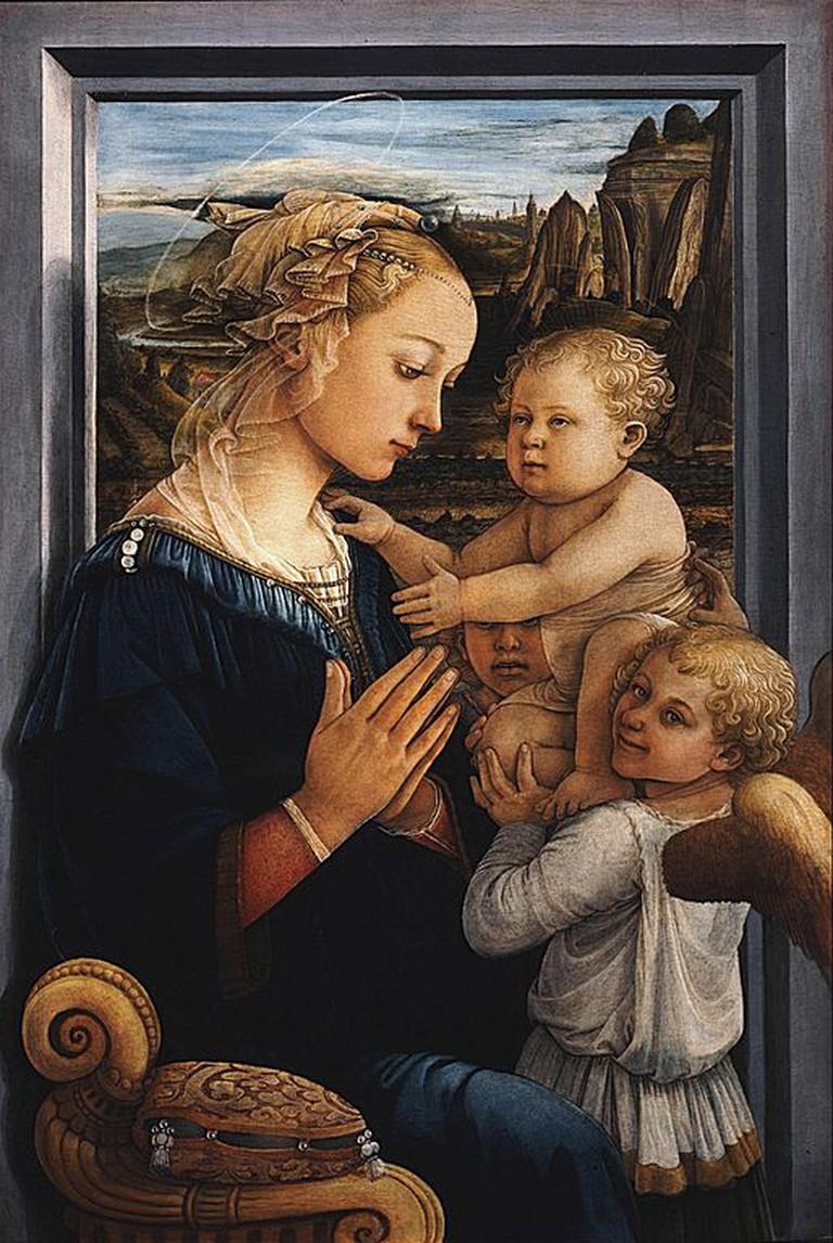 Fra Filippo Lippi, Madonna and Child with two Angels, circa 1460-1465   © Filippo Lippi/WikiCommons