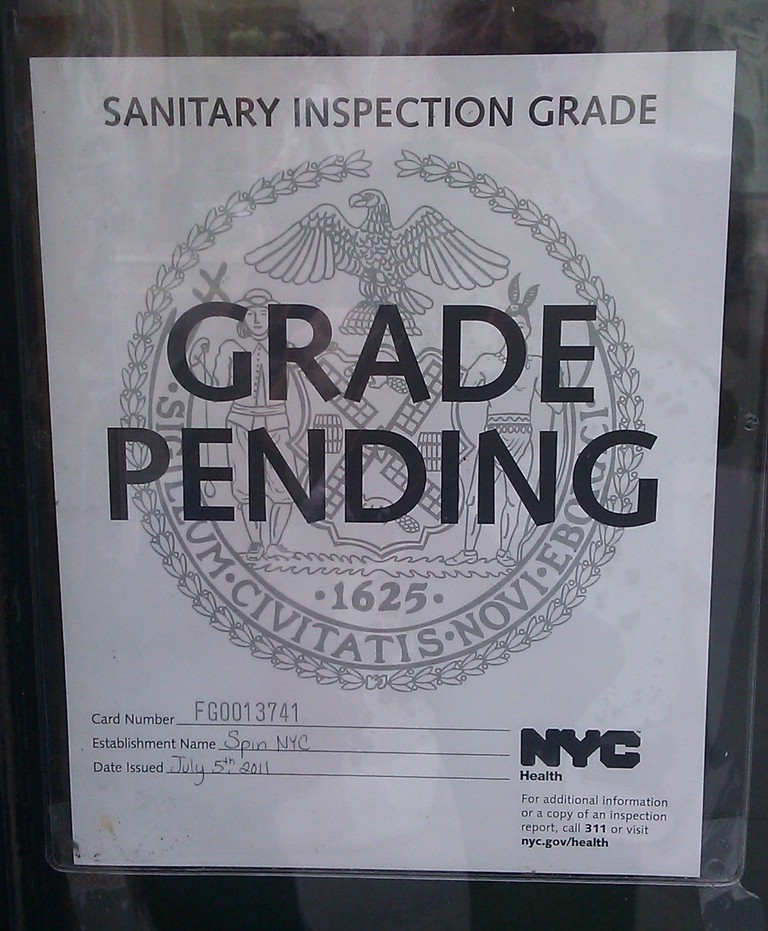 NYC Eatery Hygiene Grade Pending | © Mike Licht