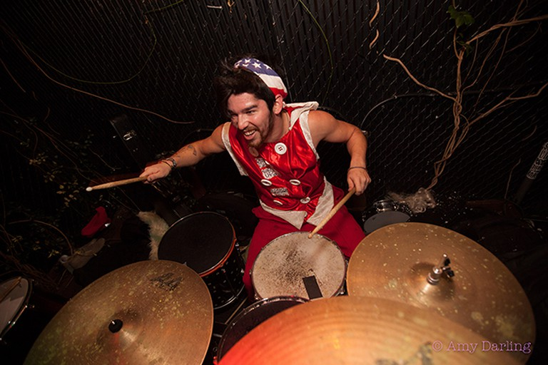Donnie Pepper on drums   © Amy Darling