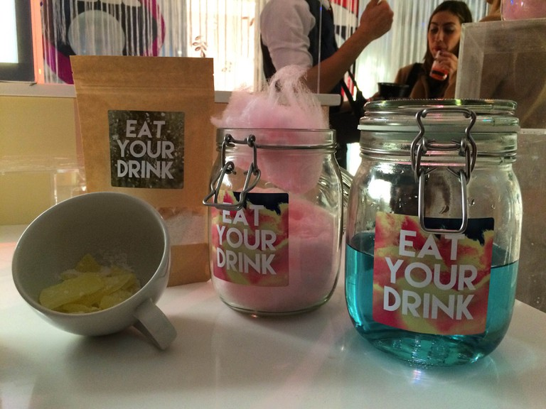 Alcoholic dib-dabs and cotton candy by Smith & Sinclair   Courtesy of Ellie Griffiths