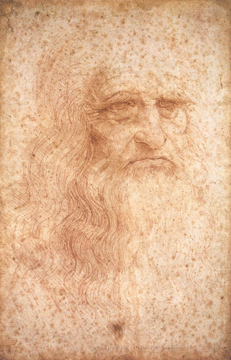 Leonardo da Vinci, Self-Portrait, circa 1512 | © Leonardo da Vinci/WikiCommons