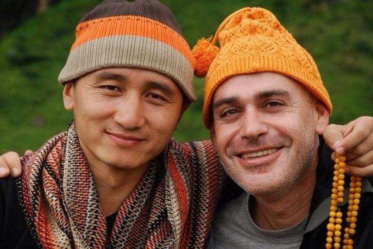 Tenzin Zopa and Nati Barati   © Nati Baratz's Facebook