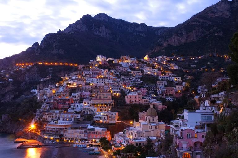 Positano Twilight, Amalfi coast   © Yoosun Won