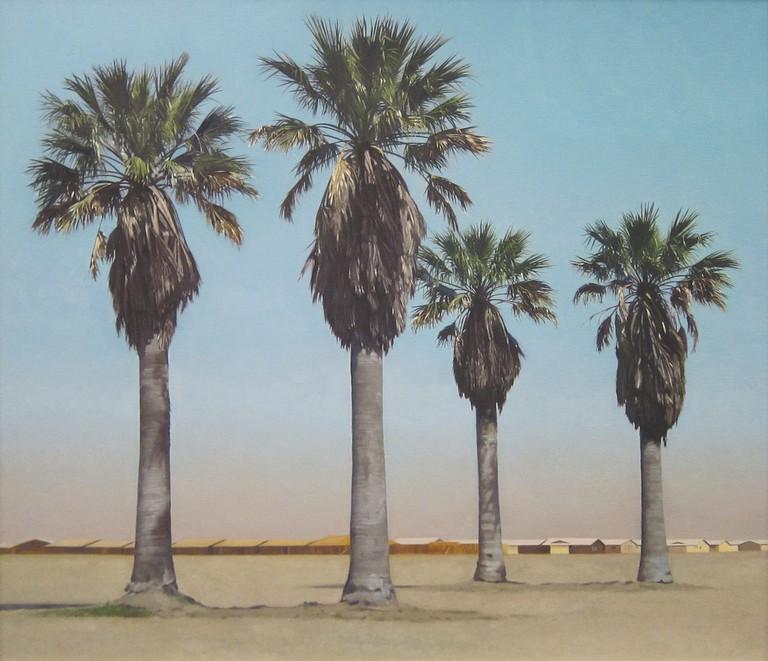 Robert Bechtle, Four Palm Trees, 1969   © Sharon Molleris/flickr