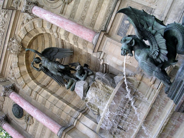 Fountain, Place St. Michel | © Stefano Brivio/Flickr