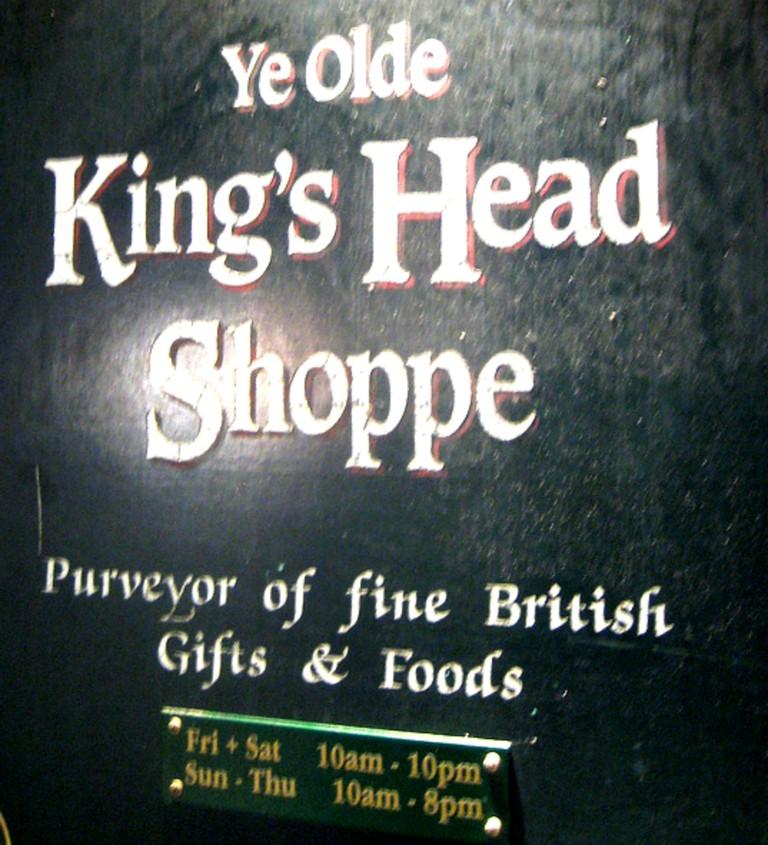 Ye OldeYe Olde English Shop sign | © Annie Mole/Flickr English Shop sign @ Annie Flickr