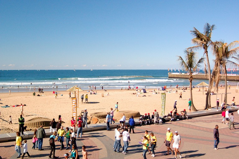 Get a view of the beach from the cable cars at FunWorld