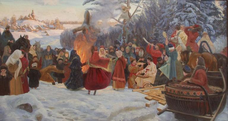 A depiction of Maslenitsa: an age old festival| © Simon Kozhin /Wikipedia
