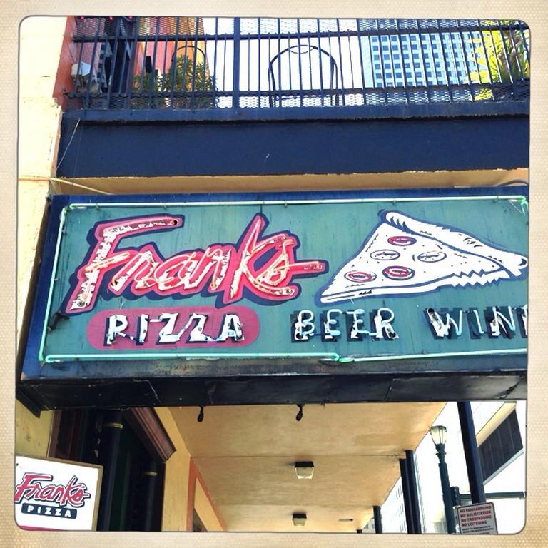 Frank's Pizza Sign   © Urban Houstonian/Flickr