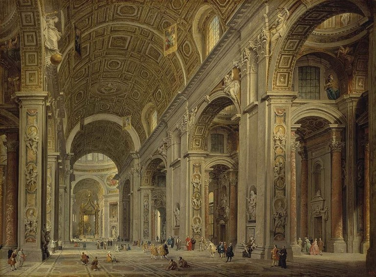 Interior of St Peter's in Rome, Giovanni Paolo Panini | © Creative Commons/Wikipedia