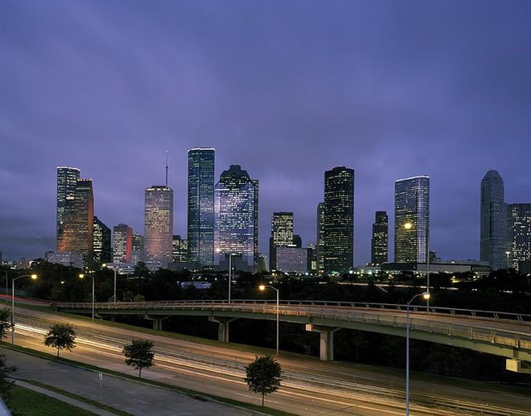 Downtown Houston Skyline at Dusk | © skeeze/Pixabay