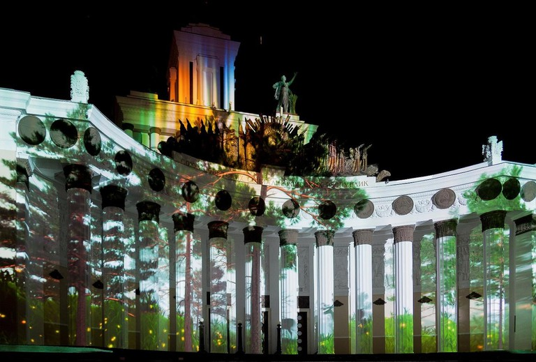 One of the buildings at the VDNKH Park all jazzed up! |© Pavel Kazachov /WikiCommons