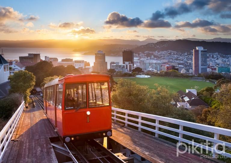 Wellington Cable Car At Sunrise   © Pikitia/pik.nz