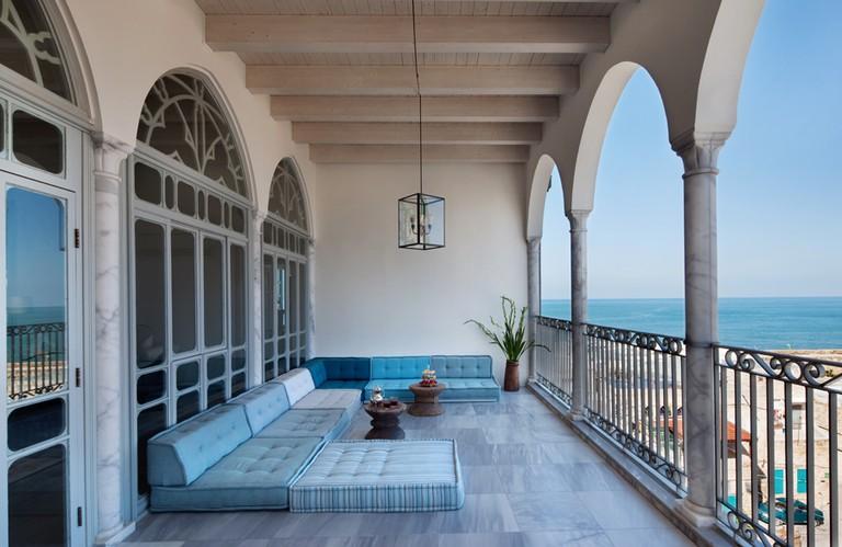 Outdoor Seating Area at Efendi Hotel   © Asaf Pinchuk.