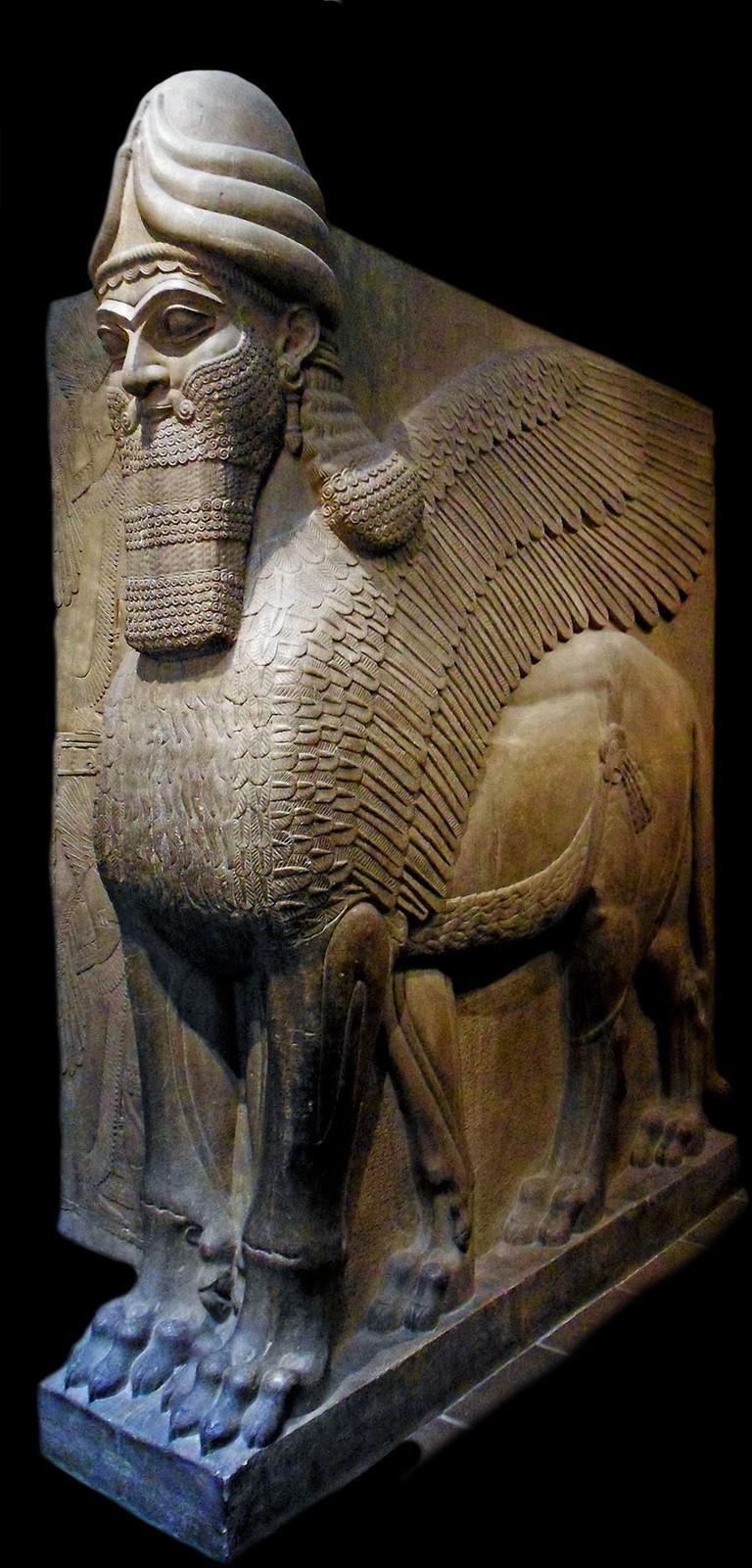 Human–headed winged lion (lamassu) | © Universal History Archive/REX/Shutterstock