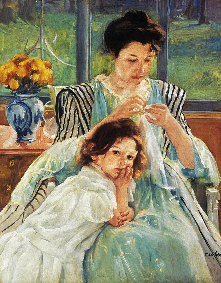 Cassatt: Mother Sewing.