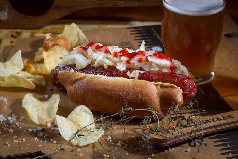 The Beef Hot Dog @ Beer Bazaar