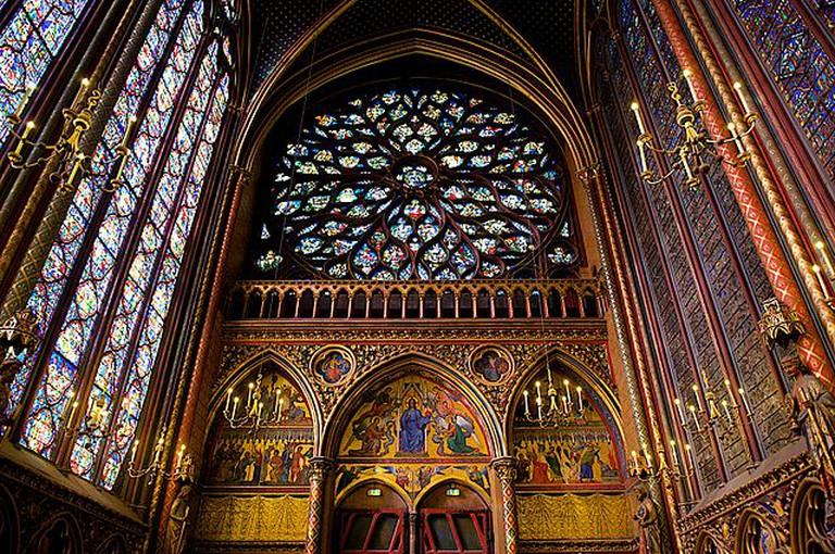 Interior Rose of Sainte Chapelle, Paris   © WikiCommons