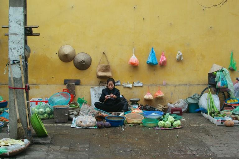 Market trader central Hanoi