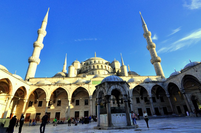 Blue Mosque is most popular mosque in Istanbul. © Serhat Engul