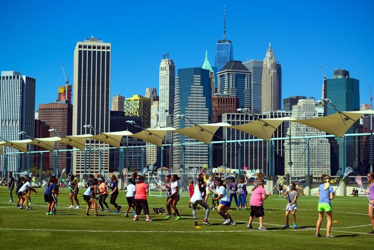 Brooklyn Lacrosse at Brooklyn Bridge Park | © Dan M. Lee Photography
