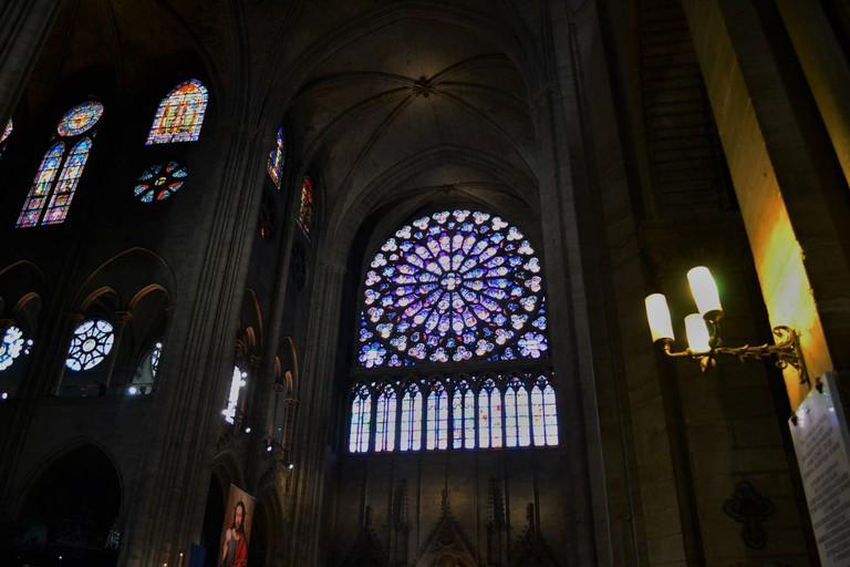 Notre Dame de Paris rose window   © Hristos Fleturis