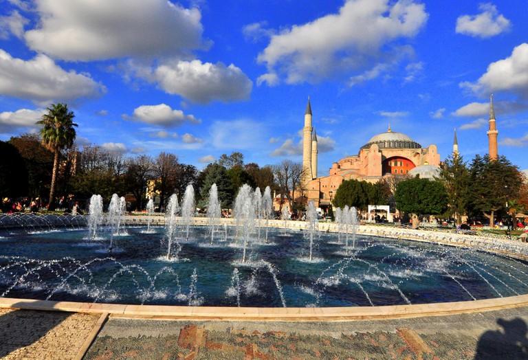 Hagia Sophia from Sultanahmet Park. © Serhat Engul