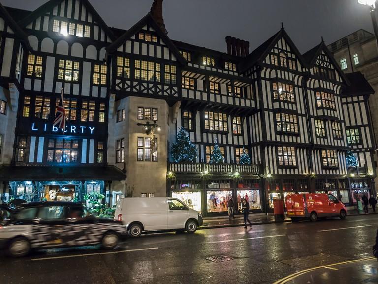 Liberty of London, during the Christmas shopping season, 2012 | ©James Petts