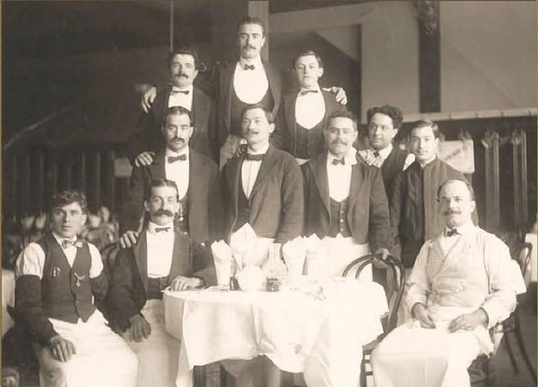 Some of Fior D'Italia's waiters pose for a portrait   Courtesy of Fior D'Italia