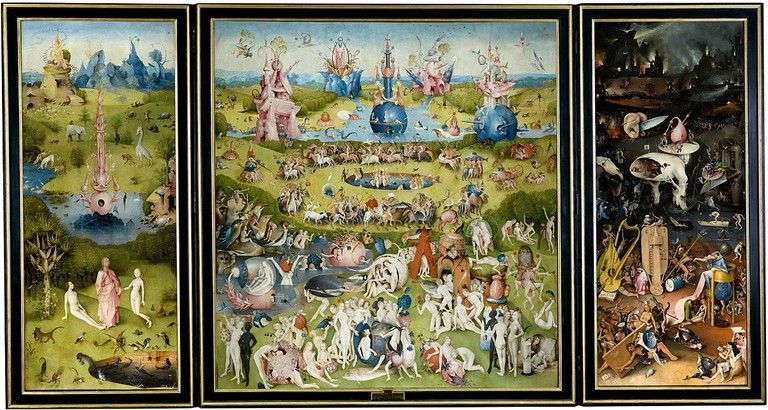 Hieronymus Bosch, The Garden of Earthly Delights, grisaille, oil on oak panels, 220 x 389 cm, Museo del Prado, Madrid, 1500-1505 | © Alonso de Mendoza/WikiCommons