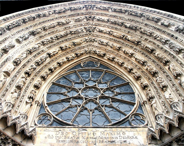 Reims Cathedral rose on exterior   © Ddouk Pixabay