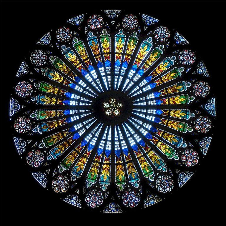 Rose Window at Strasbourg Cathedral   © Pixabay