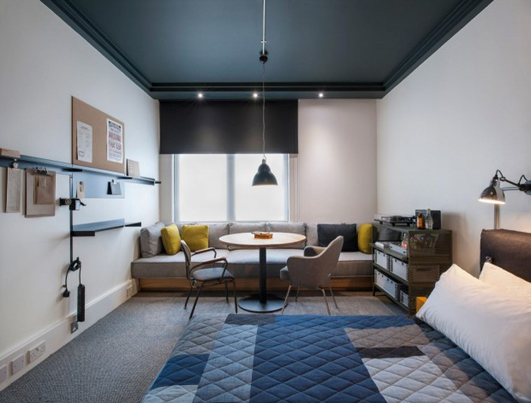 Trendy room inside London Shoreditch Ace Hotel   Courtesy of Ace Hotel