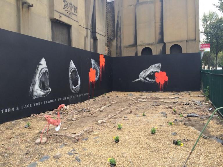 Stolen Shark Murals | © Bambi Street Artist/Facebook