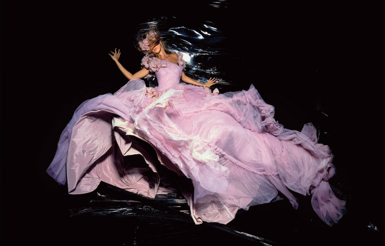 """Gisele Bündchen (in John Galliano for Christian Dio Haute Couture) photographed by Nick Knight for """"Vogue"""" (UK) 