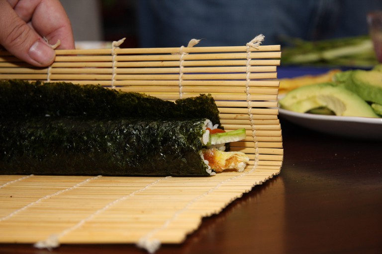 Don't take the risk and make your own sushi, head to one of our best sushi spots first!| ©Andrew Magill/Flickr