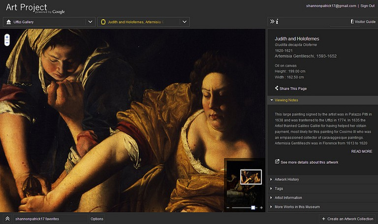 Detail of Judith and Holofernes by Artemisia Gentileschi via The Google Art Project | © shannonpatrick17/Flickr
