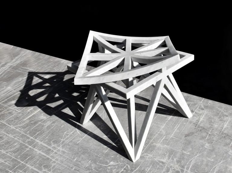 Aljoud Lootah Unfolding Unity Stool | Courtesy Design Days Dubai
