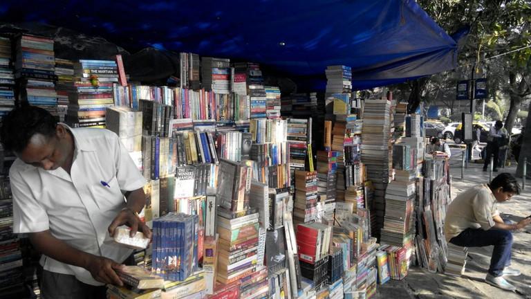 Stalls at book street | ©Aditi Mukund