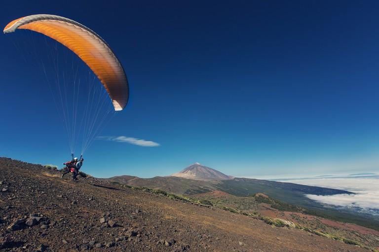 Flying through the park © Turismo de Tenerife